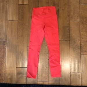 Lululemon bright pink/orange color leggings